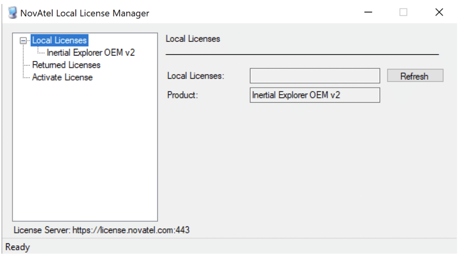 Inertial Explorer License Manger